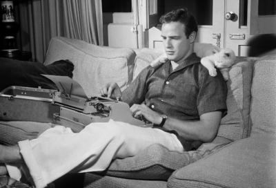 Typewriter - Marlon Brando crop