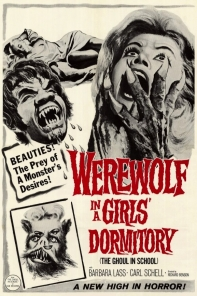 Werewolf in a Girls Dormitory - poster contrast