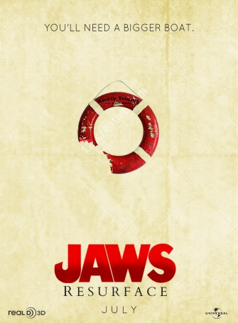 Jaws - poster resurface