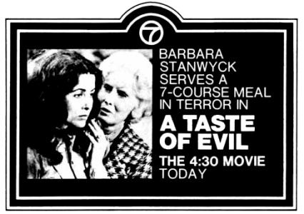 A Taste of Evil - TV ad