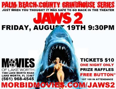 Jaws 2 - poster Lake Worth 2016