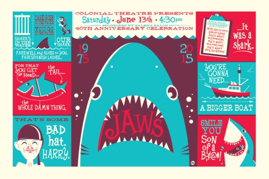Jaws - poster Colonial 2015