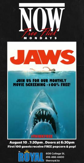 Jaws - poster Royal Cinema 2015