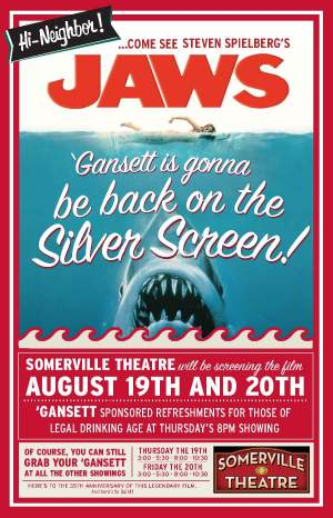 Jaws - poster Somerville 2010